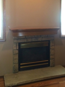 Fireplace A before