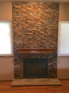 Fireplace A after