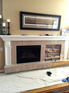 Fireplace B before